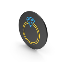 Diamond Ring Colored Icon PNG & PSD Images