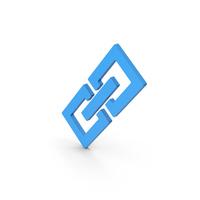 Symbol Link / Chain Blue PNG & PSD Images