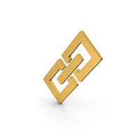 Symbol Link / Chain Gold PNG & PSD Images