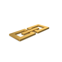 Gold Symbol Link / Chain PNG & PSD Images