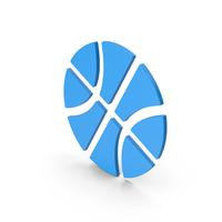 Symbol Basketball Blue PNG & PSD Images