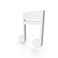 Beam Music Note White PNG & PSD Images