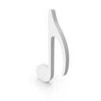 Eighth Music Note White PNG & PSD Images