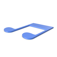 Music Note Blue PNG & PSD Images
