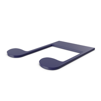 Music Note Dark Blue PNG & PSD Images