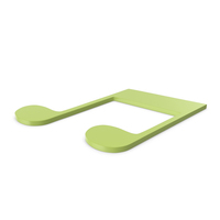 Music Note Green PNG & PSD Images