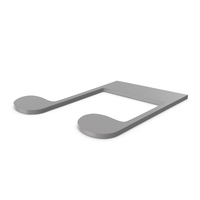 Music Note Grey PNG & PSD Images