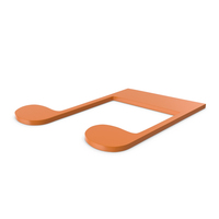 Music Note Orange PNG & PSD Images