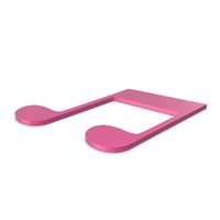Music Note Pink PNG & PSD Images