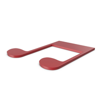 Music Note Red PNG & PSD Images