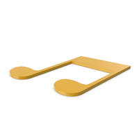 Music Note Yellow PNG & PSD Images