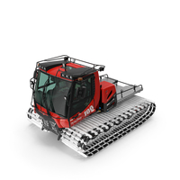 Snowy PistenBully Snowcat PNG & PSD Images