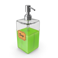 Soap Dispenser with Stainless Metal Pump PNG & PSD Images