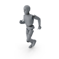 Friendly Robot Sprinting PNG & PSD Images