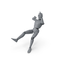 Friendly Robot Blown Back PNG & PSD Images