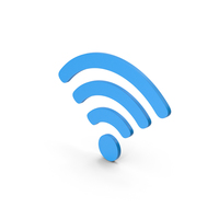 Symbol WIFI Blue PNG & PSD Images