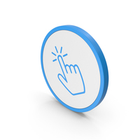 Icon Click Blue PNG & PSD Images