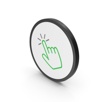 Icon Click Green PNG & PSD Images