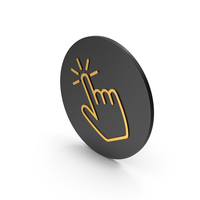 Click Gold Icon PNG & PSD Images