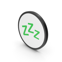 Icon Zzz Sleep Green PNG & PSD Images