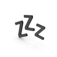 Symbol ZZz Sleep Black PNG & PSD Images