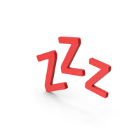 Symbol ZZz Sleep Red PNG & PSD Images