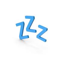 Symbol ZZz Sleep Blue PNG & PSD Images