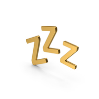 Symbol ZZz Sleep Gold PNG & PSD Images