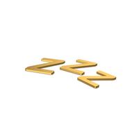 Gold Symbol ZZz Sleep PNG & PSD Images