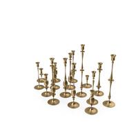 Gold Candlesticks Set PNG & PSD Images