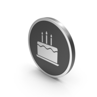 Silver Icon Birthday Cake PNG & PSD Images