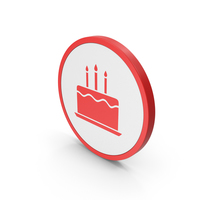 Icon Birthday Cake Red PNG & PSD Images