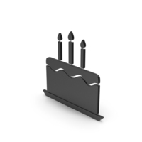 Symbol Birthday Cake Black PNG & PSD Images