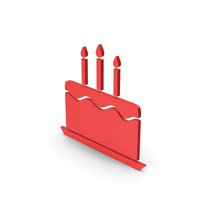 Symbol Birthday Cake Red PNG & PSD Images