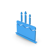 Symbol Birthday Cake Blue PNG & PSD Images
