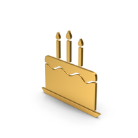 Symbol Birthday Cake Gold PNG & PSD Images