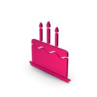 Symbol Birthday Cake Metallic PNG & PSD Images