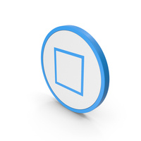 Icon Square Blue PNG & PSD Images
