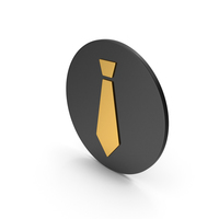 Tie Gold Icon PNG & PSD Images
