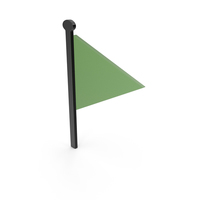 Flag Black and Green Symbol PNG & PSD Images