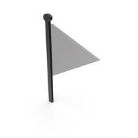 Flag Black and Grey Symbol PNG & PSD Images