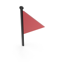 Flag Black and Red Symbol PNG & PSD Images