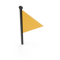 Flag Black and Yellow Symbol PNG & PSD Images