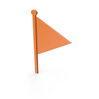 Flag Orange Symbol PNG & PSD Images