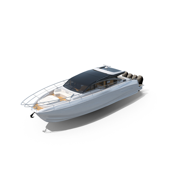 White Spinner Sea Speed Boat Yacht PNG & PSD Images