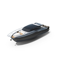 Black Sea Speed Boat Yacht PNG & PSD Images