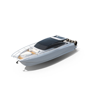 White Sea Speed Yacht PNG & PSD Images