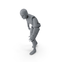 Friendly Robot Crippled PNG & PSD Images