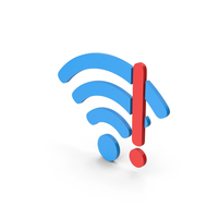 Symbol WIFI Error Blue Red PNG & PSD Images
