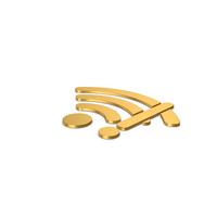 Gold Symbol WIFI Error PNG & PSD Images